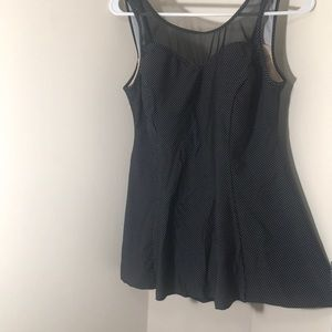 Bathing suit (sz12) Black&White polkadots